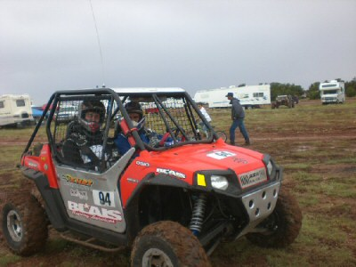 Chris and Todd before the Whiplash race