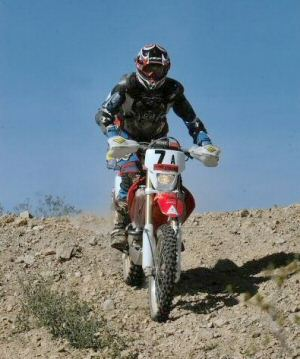 Dad on his new dirt bike '04