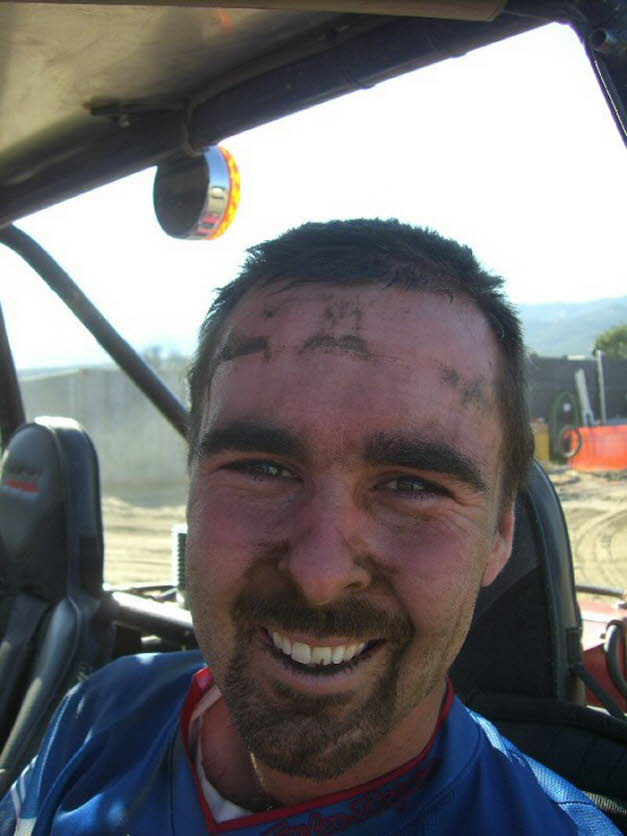 Chris dirty face and a smile, wins WORCS UTV Race