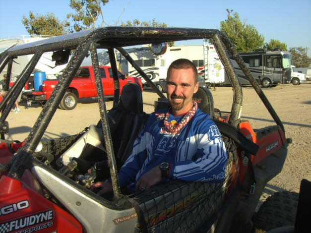 Chris racing WORCS UTV at Glen Helen 2010 !st place